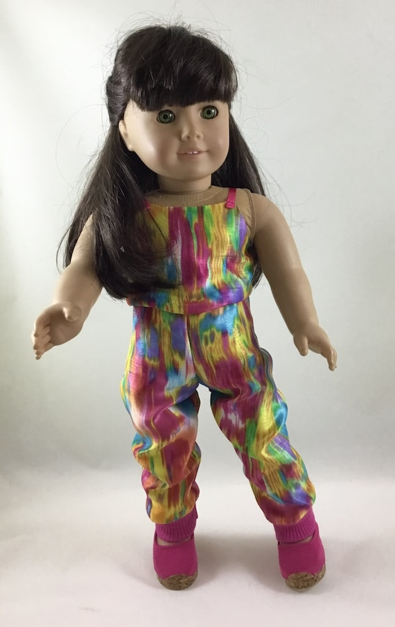 275e8992c69 Bright Multi-colored Jumpsuit made to fit 18 inch dolls