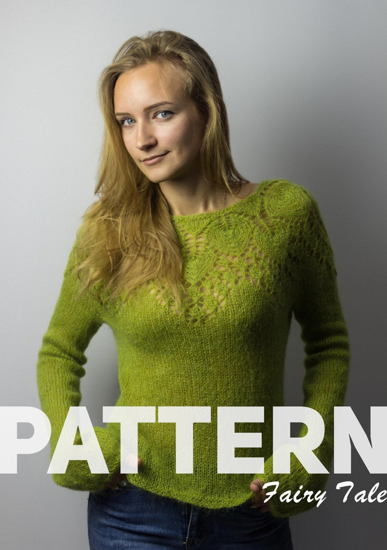 182c317d0 KNITTING PATTERN How to Knit Olive Seamless Sweater