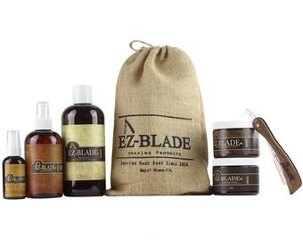 Mens Shaving Kit By EZ BLADE