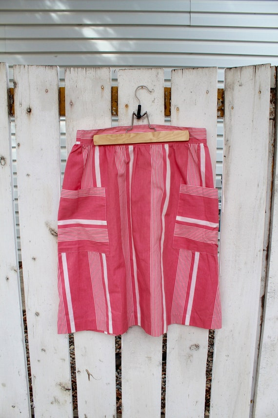Bubblegum Summer Skirt   pink and white striped vi