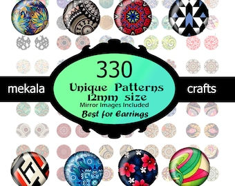 images for jewelry cabochon Ring Earrings Hairclips  Digital Collage Sheet Instant Downloads  Round Circle Images