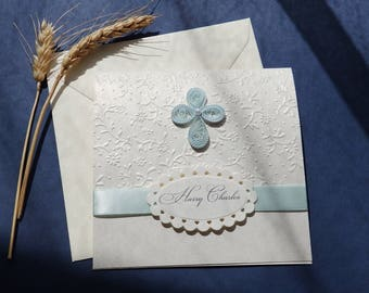 dove christening invitation boy and girl baptism etsy