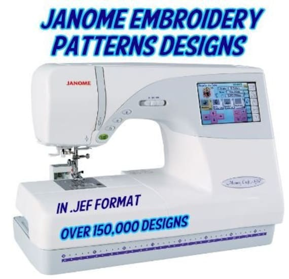 150000 Embroidery Designs In Jef Format For Janome Embroidery Etsy