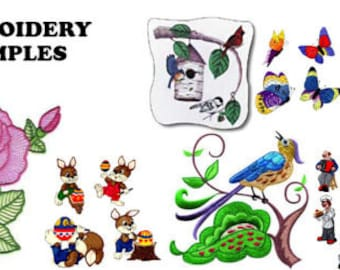 60,000+ Embroidery Machine Patterns Designs Files In .PES & .HUS Format on 2 DVDs - BONUS Included with purchase