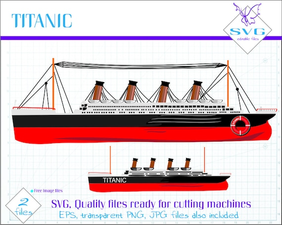 svg titanic art titanic ship cut file ship svg file ship etsy