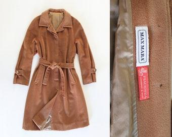 0b466d04d75b5 MAX MARA Vintage 90s Camel Coat with Belt