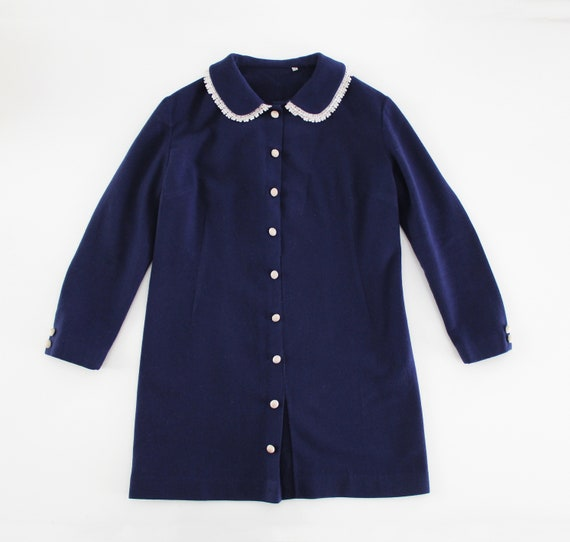Swinging 60s Vintage MOD Peter Pan Collar Mini Dr… - image 2