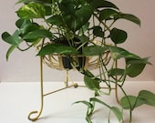 Vintage French iron planter or fruit basket on stand
