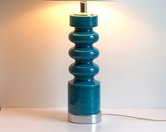 Turquoise Table Lamp Etsy