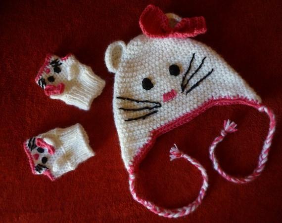 Hallo Kitty / hello Kitty Mütze / hello Kitty Mütze / baby