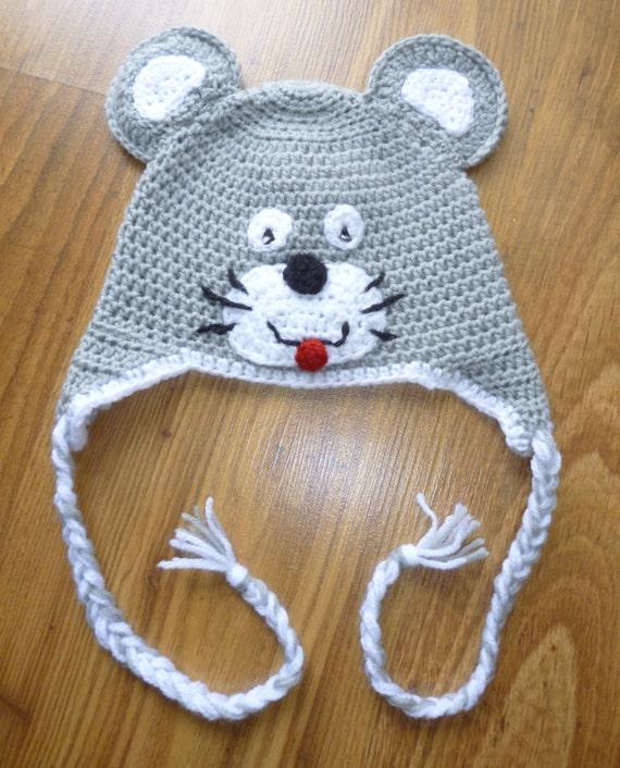 Häkeln Hut Maus Hut Maus Mütze Häkeln Maus Mütze Etsy
