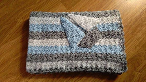 Babydecke häkeln / Baby Junge Decke / Baby-Dusche-Geschenk / | Etsy