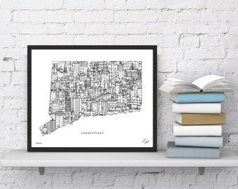Campus artwork | Etsy on depere street map, 541 rush street map, uw map,