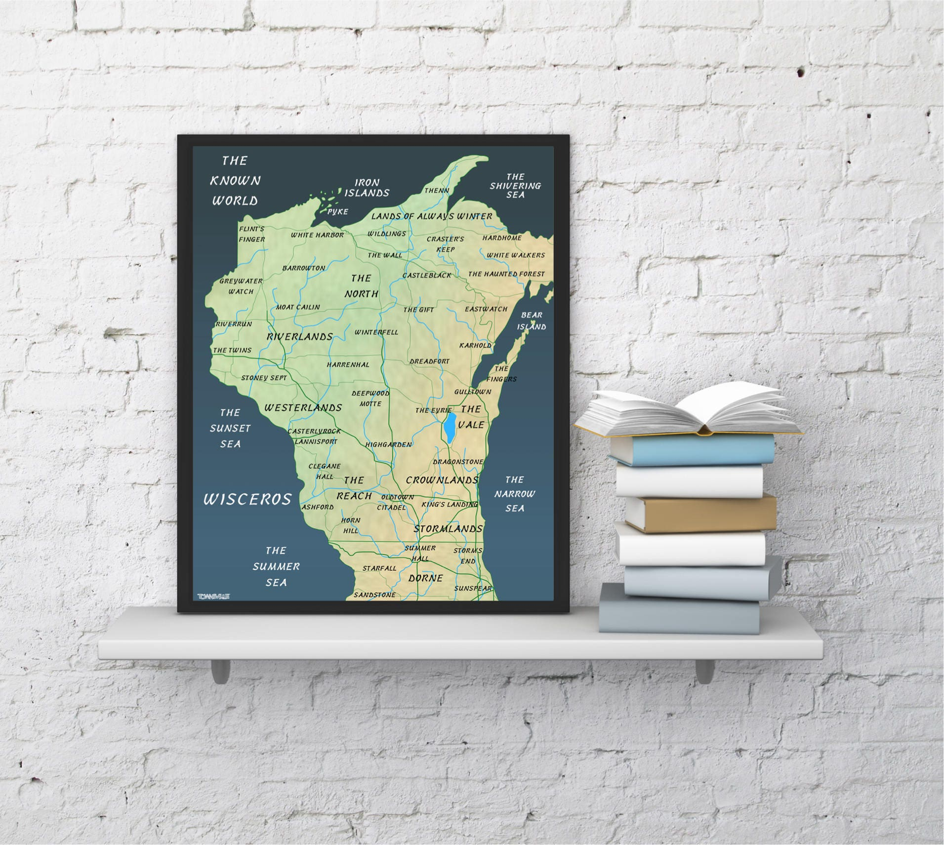 Game of Thrones Wisconsin Map Print King Wisconsin Map on king virginia map, wild rose wi map, king wisconsin veterans home, king wisconsin restaurants, king va waupaca in wisconsin,