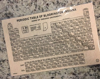 Periodic Table of Bloomington Indiana