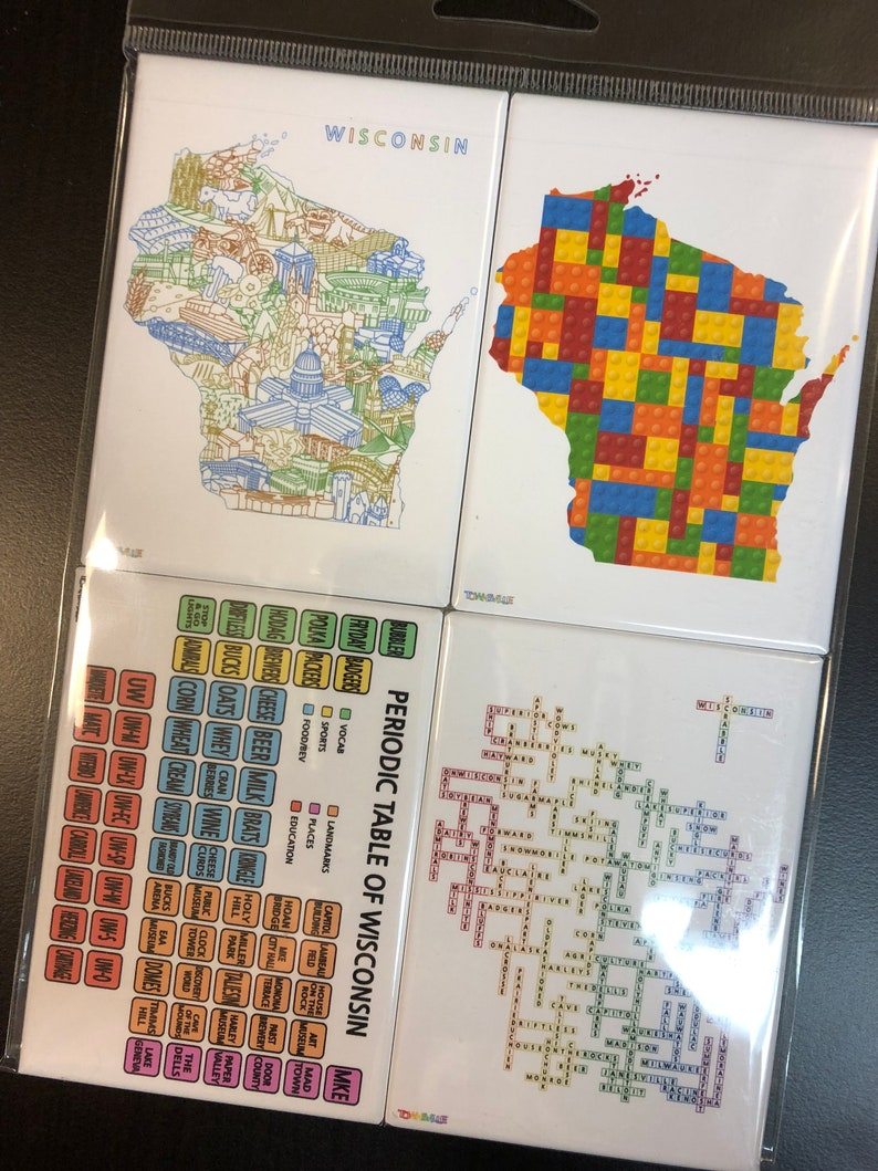 Landmarks Scrabble Periodic Table of Wisconsin Wisconsin Magnet Set