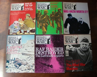 History of Second World War Magazine Lot of 6 #55 56 58 59 60 63, D-Day, Anzio, WWII, World War II