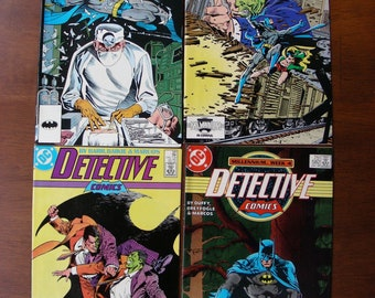 Batman Detective Comics Lot of 4 #579 580 581 582 VF, Two-Face, Norm Breyfogle, DC Comics