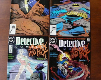 Batman Detective Comics Lot of 4 #604 605 606 607 VF, Full Mudpack, Mudface, Alan Grant, Norm Breyfogle, DC Comics