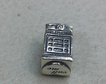 Authentic Pandora Silver London Calling Charm #791202EN49