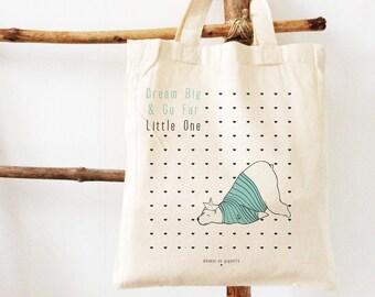 kid's bag, kid's tote bag, polar bear, sailor, snack bag, toy's bag, toys storage, birth gift, birthday gift