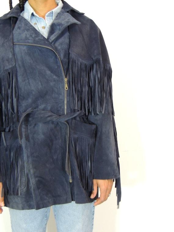 Fringe Suede Jacket - image 6