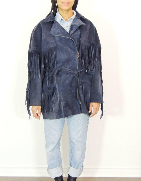 Fringe Suede Jacket - image 2