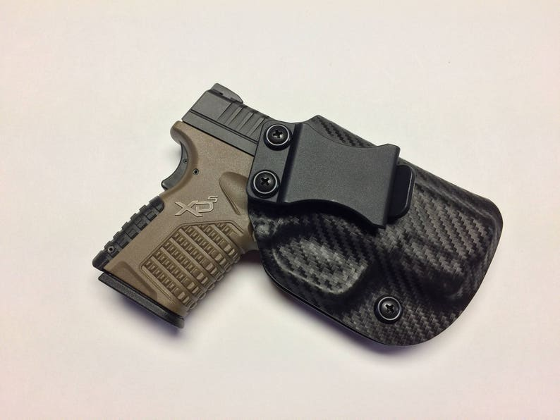SALE ! Springfield Armory XDS 3 3 (9/40/45) Custom Holster / IWB / Right  Hand - Carbon Fiber Black