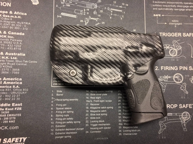 SALE ! Taurus PT 111/140 Millennium G2 / G2C Kydex Holster - Carbon Fiber  Black / iwb / ccw / Right Hand