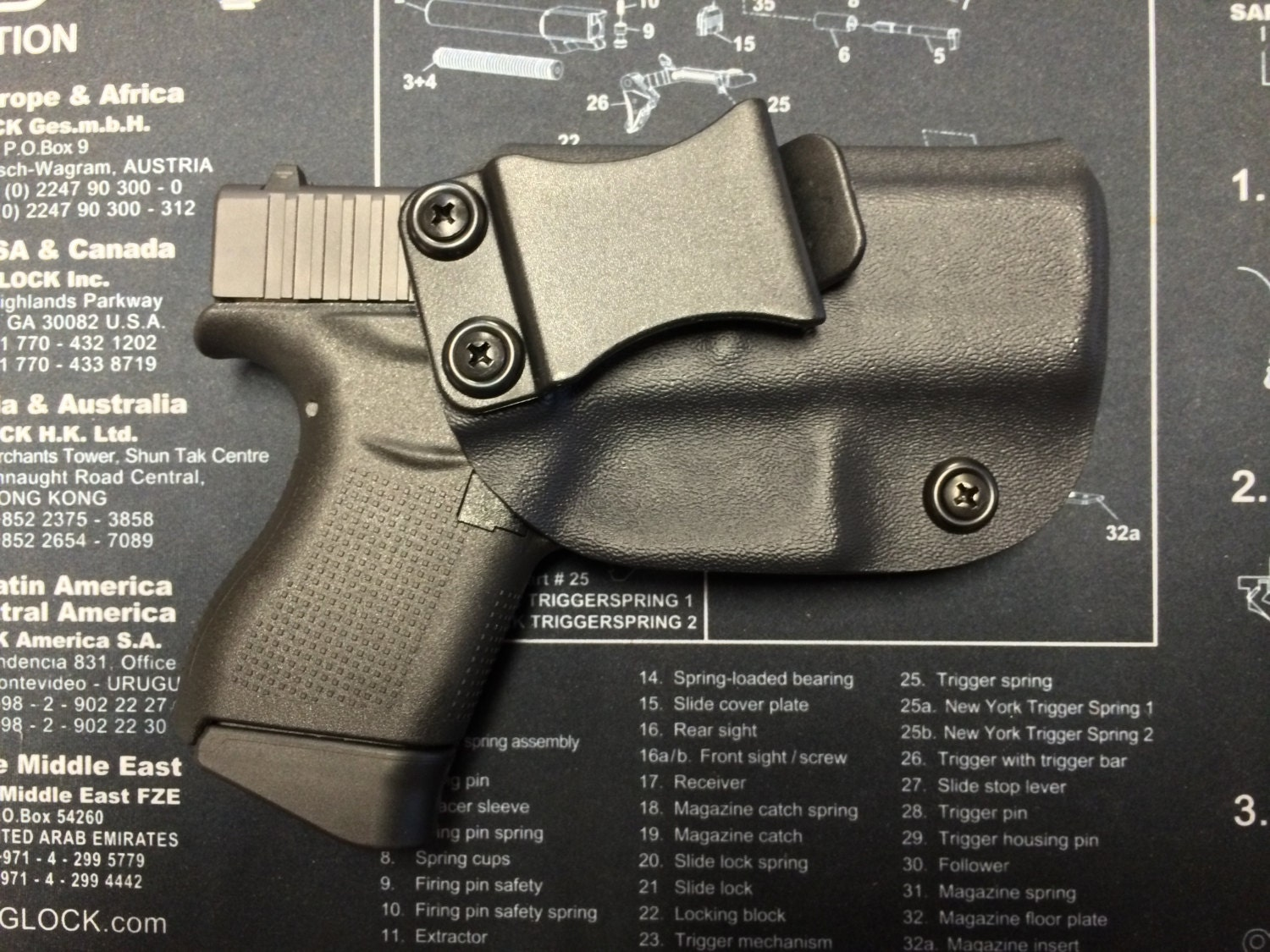 SALE ! Glock 43 Kydex Holster / IWB / Concealed Carry