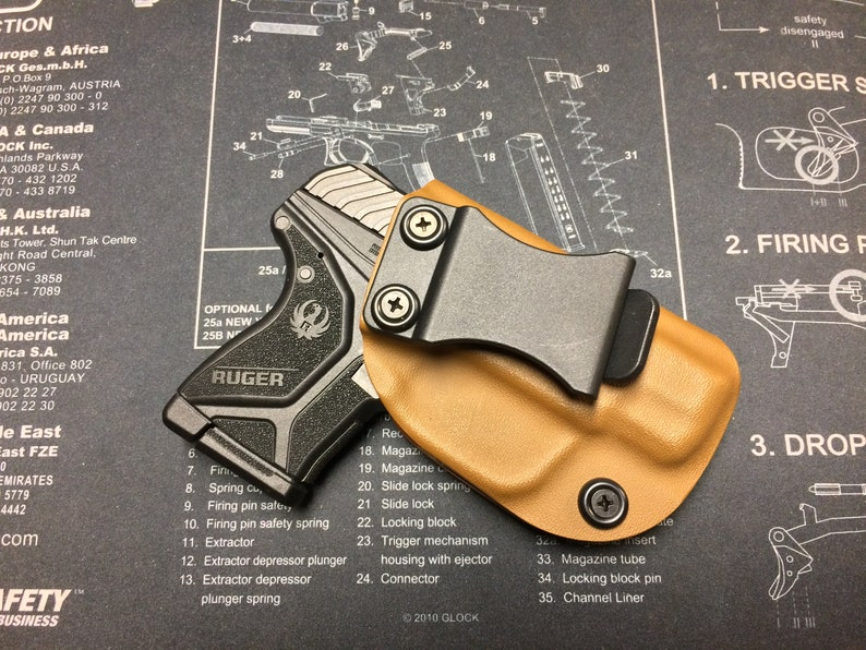 SALE ! Ruger LCP 2 Kydex Holster - Coyote Brown / ccw / iwb / Right Hand