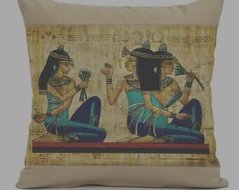 egyptian pillow Cover Ancient Egypt decorative throw pillows zippered pillow egyptian Hieroglyph Pillow Cover,old egypt pillow