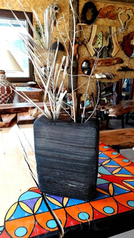 Decorative Woodenvazerustic Vaze Handmade Woodvaze