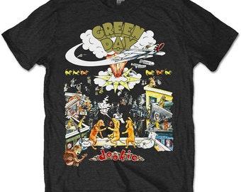 Green Day Mens//Unisex T-Shirt Dookie Vintage Grey