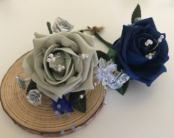 Silk buttonholes handmade in various colours