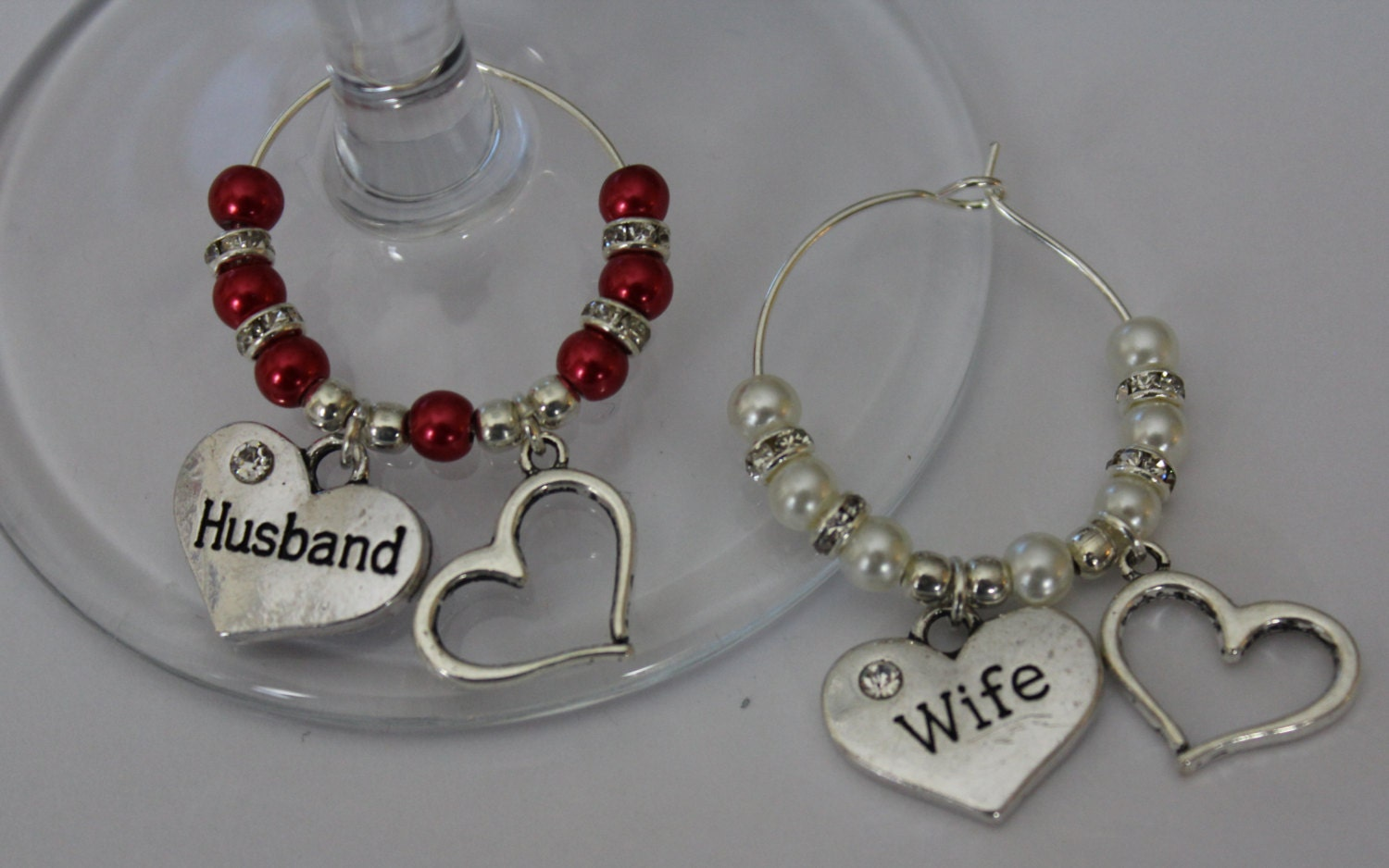 Wedding Gift Ideas Australia: Husband & Wife Wine Glass Charms Wedding Gift Valentines