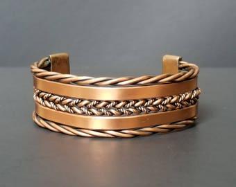 Southwestern Copper Cuff Bracelet  - Copper Twisted Cuff Bracelet  - Copper Cuff Bracelet