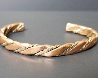 Southwestern Braided Cuff Bracelet  - Copper Cuff Bracelet