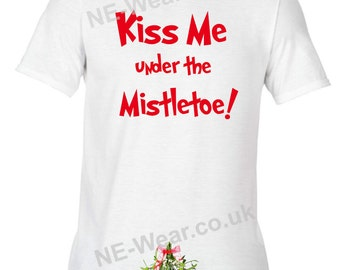 1cbbc95bc Alternative Christmas Jumper Sweatshirt Kiss me under the Mistletoe rude  funny