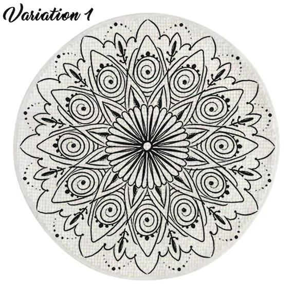 Mandala Imprime Tapis De Bain Meditation