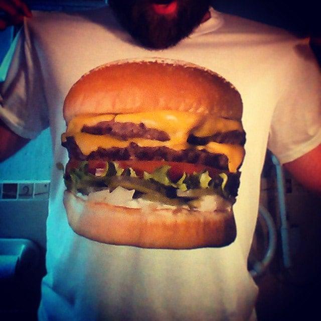 Mmm savoureux Burger Sublimation thermique couleur imprimé Union pour pour Union la liberté amusant T-Shirt blanc 4a75d3