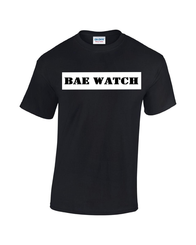 Bae Watch Black Vinyl Printed T Shirt Etsy