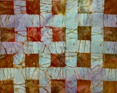 New for March CRACKED PLAID Batik - lsbc-4412 Poppy By the Yard