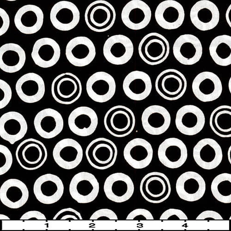 9 Fat Quarter Batik Sampler Black and White Dots Special Edition with Free Shipping