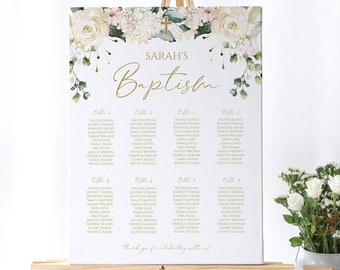Prom Kay/'s Weddings Personalised Wedding Christening Table Seating Plan Chart 259 Baby Shower