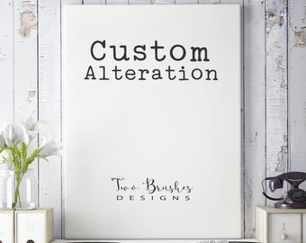 Custom alteration - Changes to an existing design in my shop - Digital files