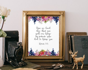 Bible Verse Art Scripture Printable Verses Best Friendship Etsy