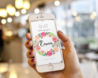 Personalized iPhone wallpapers, Cell Phone Wallpaper, gift for her, Android Wallpaper, Personalized phone wallpaper, iPhone wallpapers
