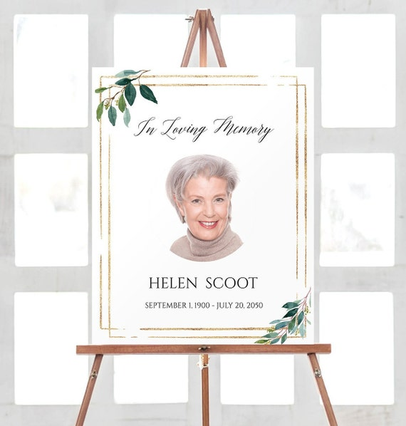 In Loving Memory Sign Memorial Sign Printable Funeral Decorations Memorial Service Ideas Remembrance Sign Instant Download Diy 1148