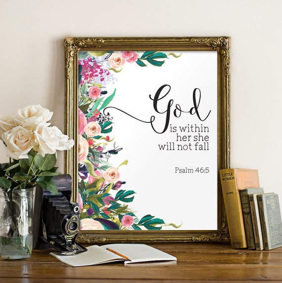 Printable women gift Nursery bible verse Wall decor God is | Etsy